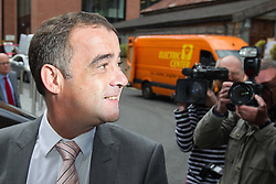© Licensed to London News Pictures . 10/09/2013 . Manchester , UK . MICHAEL LE VELL (aka Michael Turner ) arrives at Manchester Crown Court this morning (Tuesday 10th September 2013) . The actor , who plays mechanic Kevin Webster in Coronation Street , is charged with a series of offences including rape , sexual activity with a child and indecent assault . Photo credit : Joel Goodman/LNP