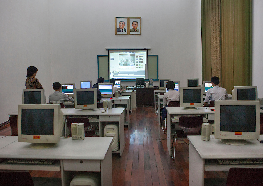 Video editing in Mangyongdae School-children's Palace, Pyongyang, North Korea.