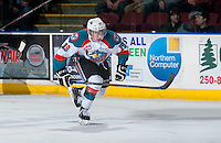 KELOWNA, CANADA - MARCH 11: Dillon Dube #19 of Kelowna Rockets skates against the Victoria Royals on March 11, 2015 at Prospera Place in Kelowna, British Columbia, Canada.  (Photo by Marissa Baecker/Shoot the Breeze)  *** Local Caption *** Dillon Dube;