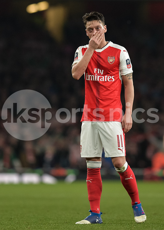 Mesut Özil of Arsenal during the The FA Cup sixth round match between Arsenal and Lincoln City at the Emirates Stadium, London, England on 11 March 2017. Photo by Vince Mignott.