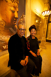 """Musician Mark Izu, left, and writer/performer Brenda Wong Aoki, co-stars of """"Aunt Lily's Flower Book,"""" pose for a photograph at the Gala for the CAAM Film Festival, at the Asian Art Museum, Thursday, May 10, 2018 in San Francisco, Calif. (D. Ross Cameron/SF Chronicle)"""
