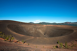 Crater and rim of Cinder Cone, Lassen Volcanic National Park, California, United States of America
