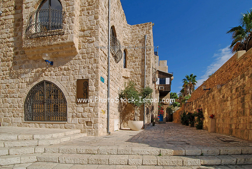 Renovated old town of Jaffa, Israel now an artist colony and tourist attraction