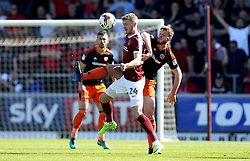 Jack O'Connell of Sheffield United challenges Michael Smith of Northampton Town - Mandatory by-line: Robbie Stephenson/JMP - 08/04/2017 - FOOTBALL - Sixfields Stadium - Northampton, England - Northampton Town v Sheffield United - Sky Bet League One