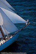 Eleonora racing in the Museum of Yachting Classic Yacht Regatta.