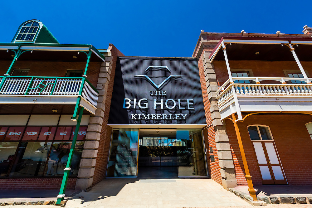 The Old Town at the Big Hole Mine, Kimberley, South Africa.