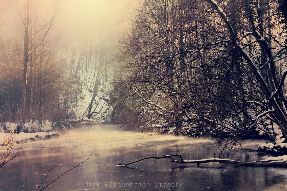 Winter sun on the misty waters of river Wupper. Textured photo.<br /> <br /> Prints &amp; more:<br /> http://society6.com/DirkWuestenhagenImagery/winter-on-the-river_Print<br /> <br /> Liense this through Getty Images:<br /> http://www.gettyimages.com/detail/photo/lost-in-lights-royalty-free-image/110682530?esource=en-us_flickr_photo&amp;language=en-US