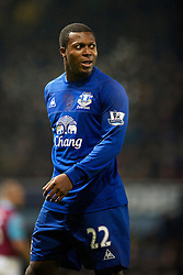 LONDON, ENGLAND - Tuesday, December 28, 2010: Everton's Ayegbeni Yakubu in action against West Ham United during the Premiership match at Upton Park. (Pic by: David Rawcliffe/Propaganda)