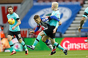 Derby's Will Hughes (19) and Wigan's Max Power (6) during the EFL Sky Bet Championship match between Wigan Athletic and Derby County at the DW Stadium, Wigan, England on 3 December 2016. Photo by Craig Galloway.