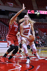 01 January 2017:  Millie Stevens & Leti Lerma during an NCAA Missouri Valley Conference Women's Basketball game between Illinois State University Redbirds the Braves of Bradley at Redbird Arena in Normal Illinois.