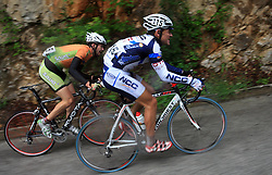 Blaz Furdi of Slovenia (Sava) and Francesco Reda of Italia (NGC Medical - OTC Indutria Porte)  during 3rd stage of the 15th Tour de Slovenie from Skofja Loka to Krvavec (129,5 km), on June 13,2008, Slovenia. (Photo by Vid Ponikvar / Sportal Images)/ Sportida)
