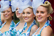 Elle and the Pocket Belles at the Qatar Goodwood Festival, better known as Glorious Goodwood. Day one.<br /> Picture date: Tuesday July 28, 2015.<br /> Photograph by Christopher Ison &copy;<br /> 07544044177<br /> chris@christopherison.com<br /> www.christopherison.com