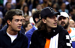 Jack Whitehall and Arsenal's Hector Bellerin in the crowd during the NBA London Game 2018 at the O2 Arena, London.