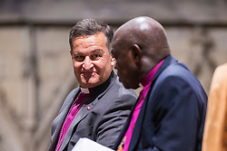 © Licensed to London News Pictures. 26/11/2018. York UK. The Rt Revd Dr Jonathan Frost (left) who is the new Dean of York talks to the Archbishop of York John Sentamu. Downing Street has announced today that her Majesty The Queen has accepted the nomination of the Rt Revd Dr Jonathan Frost, the Suffragan Bishop of Southhampton as the next Dean of York. Photo credit: Andrew McCaren/LNP