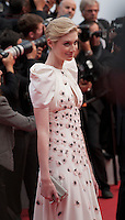 Actress Elizabeth Debicki at the gala screening for the film Macbeth at the 68th Cannes Film Festival, Saturday 23rd May 2015, Cannes, France.