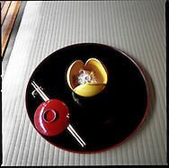 A tuna speciality at Kikunoi Restaurant, Higashiyama, Kyoto, Japan.