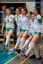 01-04-2017 NED:  CEV U18 Europees Kampioenschap vrouwen dag 1, Arnhem<br /> Nederland - Bulgarije verliest met 1-3 / Borislava Saykova #4, Iva Halacheva #3