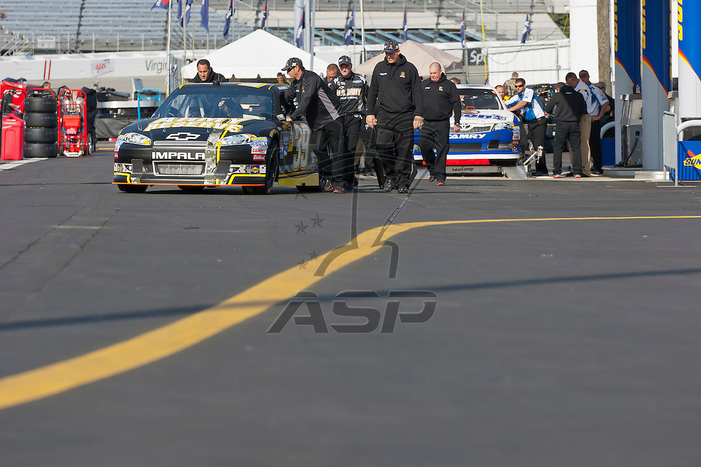 RICHMOND, VA - APR 27, 2012:  Ryan Newman (39) and his crew practice for the Capital City 400 Presented by Virginia Is For Lovers at the Richmond International Raceway in Richmond, VA.