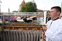 13.04.2016, Zagreb, CRO, St. Leopold Bogdan Mandic, im Bild Der Leichnam des heiligen Leopold Bogdan Mandic, einem kroatischen Kapuziner und einer der beiden Schutzheiligen des Jahres der Barmherzigkeit, ist in Kroatien angekommen, wo es bis zum 18. April bleiben wird. // In the cathedral came the body of St. Leopold Bogdan Mandic, a saint whom Pope Francis proclaimed protector In mercy. St. Leopold Mandic is one of the most popular Croatian Saints, was the great priest, and his body was completely preserved and incorrupt, and for the first time coming to Croatia. A formal reception and a liturgy was led by Archbishop Cardinal Josip Bozanic at Zagreb, Croatia on 2016/04/13. EXPA Pictures © 2016, PhotoCredit: EXPA/ Pixsell/ Goran Stanzl<br /> <br /> *****ATTENTION - for AUT, SLO, SUI, SWE, ITA, FRA only*****