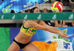 Andreja Vodeb (Aliansa Team) at qualifications for 14th National Championship of Slovenia in Beach Volleyball and also 4th tournament of series TUSMOBIL LG presented by Nestea, on July 25, 2008, in Kranj, Slovenija. (Photo by Vid Ponikvar / Sportal Images)/ Sportida)