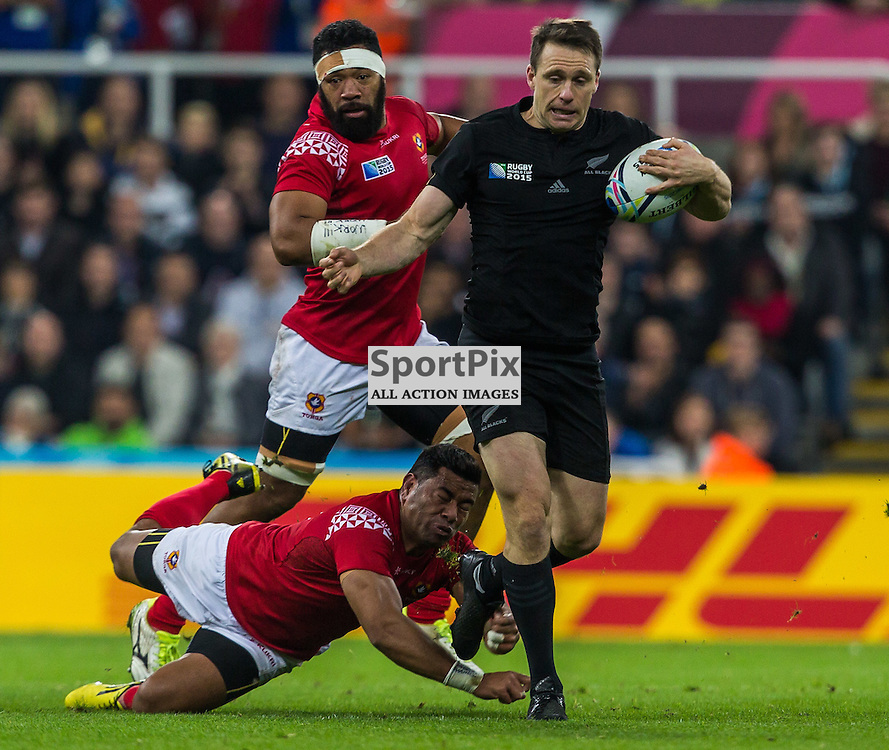 Ben Smith in action during the Rugby World Cup match between New Zealand and Tonga (c) ROSS EAGLESHAM | Sportpix.co.uk