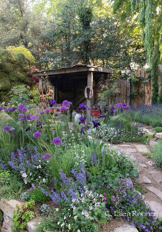 The Donkey Sanctuary: Donkeys Matter an artisan garden at the RHS Chelsea Flower Show 2019, London, UK