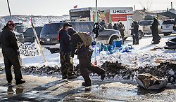 December 3, 2016 - Cannonball, North Dakota, United States - Chopped wood being delivered to a tent site.  Veterans arrived en mass to Standing Rock, bringing a massive amount of supplies including winter clothing, food and firewood by the truck load.  Over 5000 veterans are anticipated to arrive by Sunday evening, prior to various actions slated to place. (Credit Image: © Michael Nigro/Pacific Press via ZUMA Wire)