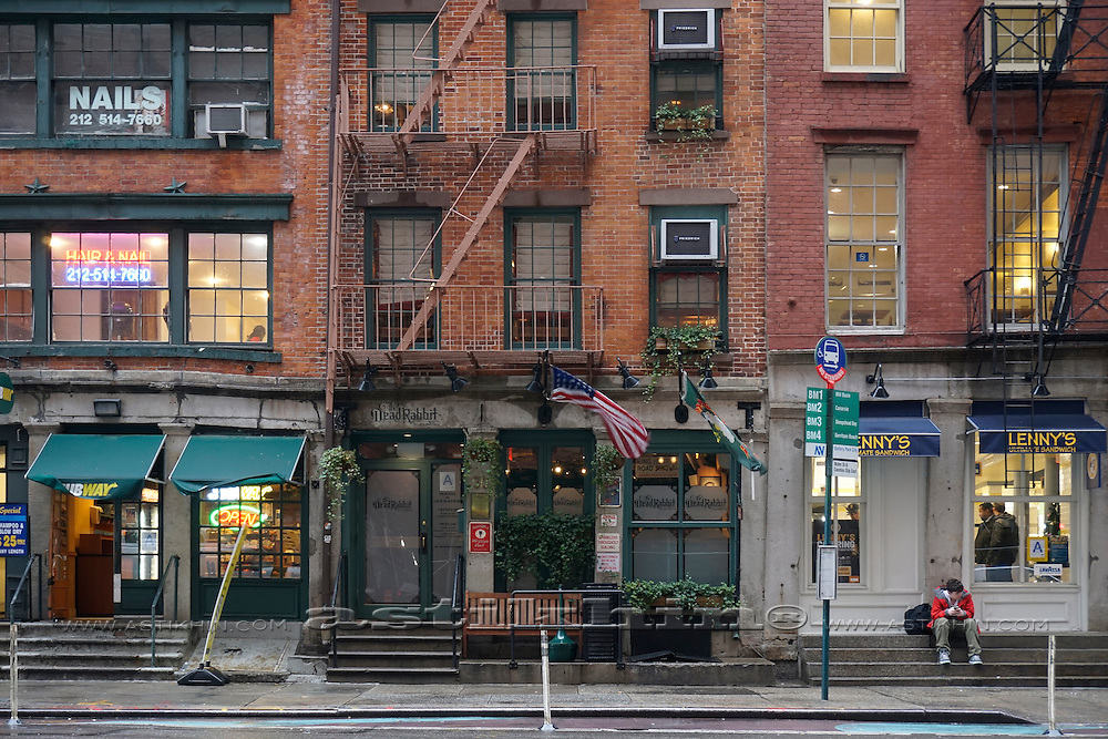 Old buildings in Lower Manhattan, NYC.