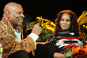 l to r: Avery Brooks and Alicia Keys at the Dr. Barbara Ann Teer's Institute of Action Arts launch for the 41st  Communication Arts Program Symposium held at The National Black Theater in Harlem, NY on March 27, 2009