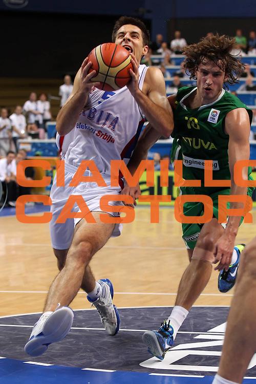 DESCRIZIONE : Vilnius Lithuania Lituania Eurobasket Men 2011 Second Round Serbia Lituania Serbia Lithuania<br /> GIOCATORE : Milenko Tepic<br /> SQUADRA : Serbia <br /> EVENTO : Eurobasket Men 2011<br /> GARA : Serbia Lituania Serbia Lithuania<br /> DATA : 07/09/2011 <br /> CATEGORIA : palleggio<br /> SPORT : Pallacanestro <br /> AUTORE : Agenzia Ciamillo-Castoria/ElioCastoria<br /> Galleria : Eurobasket Men 2011 <br /> Fotonotizia : Vilnius Lithuania Lituania Eurobasket Men 2011 Second Round Serbia Lituania Serbia Lithuania<br /> Predefinita :