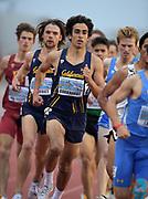 Apr 19, 2019; Torrance, CA, USA; Andrew Burkhardt of California runs in an invitational 1,500m heat during the 61st Mt. San Antonio College Relays at El Camino College.