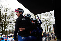 Ilaria Sanguinetti (ITA) signs on at Drentse 8 van Westerveld 2019, a 145 km road race starting and finishing in Dwingeloo, Netherlands on March 15, 2019. Photo by Sean Robinson/velofocus.com
