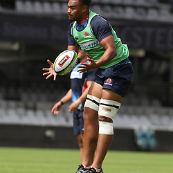 Senio Toleafoa of the NSW Waratahs during the NSW Waratahs Cap Run at  Growthpoint Kings Park Durban , South Africa. March 9th 2017(Photo by Steve Haag)<br /> <br /> images for social media must have consent from Steve Haag