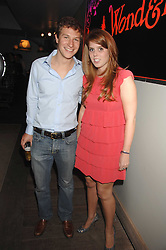 PRINCESS BEATRICE and DAVE CLARK at a party to celebrate the launch of the Boodles Wonderland jewellery collection held at the Haymarket Hotel, 1 Suffolk Place, London on 9th June 2008.<br /><br />NON EXCLUSIVE - WORLD RIGHTS