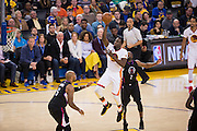 Golden State Warriors forward Draymond Green (23) attacks the basket against the LA Clippers at Oracle Arena in Oakland, Calif., on January 28, 2017. (Stan Olszewski/Special to S.F. Examiner)