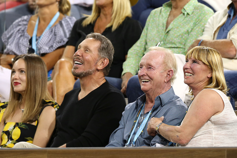 March 15, 2016, Palm Springs, CA:<br /> Guests are shown in the Champion's Box during a match between Novak Djokovic and Phillip Kohlschreiber during the 2016 BNP Paribas Open at the Indian Wells Tennis Garden in Indian Wells, California Tuesday, March 15, 2016.<br /> (Photos by Billie Weiss/BNP Paribas Open)
