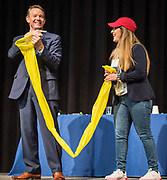 Steve Spangler delivers the keynote address during the R.T. Garcia Early Childhood Winter Conference, January 26, 2019.
