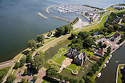 Nederland, Noord-Holland, Medemblik, 14-07-2008; Kasteel Radboud met jachthaven op het tweede plan; burcht; West-Friesland. .luchtfoto (toeslag); aerial photo (additional fee required); .foto Siebe Swart / photo Siebe Swart)