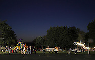 Montgomery, New York - People wait for the fireworks display to start at a park on July 17, 2010.