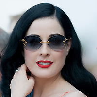 Windsor Great Park, 27th July  Dita von Teese at Smith Lawns, Cartier International Polo at the Guards Polo club