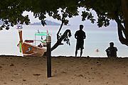 Thailand, Ko Kradan. Longtail boat.
