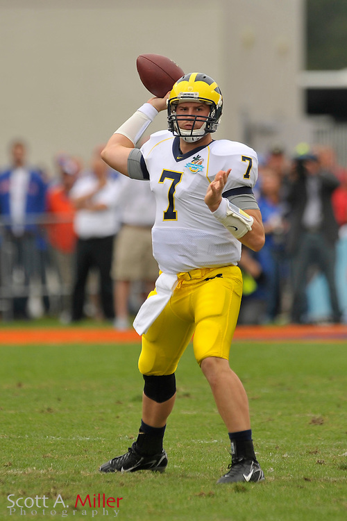 Jan. 1, 2008; Orlando, FL, USA; Michigan Wolverines quarterback Chad Henne (7) during the Wolverines 41-35 win over the Florida Gators in the Capital One Bowl at the Citrus Bowl...©2008 Scott A. Miller