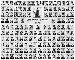 1975 Yale Divinity School Senior Portrait Class Group Photograph