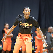 UNCASVILLE, CONNECTICUT- May 2:  Chiney Ogwumike #13 of the Connecticut Sun in action during the Connecticut Sun pre season training in preparation for the 2018 WNBA season at Mohegan Sun Arena on May 2, 2018 in Uncasville, Connecticut. (Photo by Tim Clayton/Corbis via Getty Images)