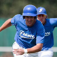 21 july 2010: Jerome Rousseau of Team France is seen during a practice prior to the 2010 European Championship Seniors, in Neuenburg, Germany.