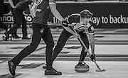 "Glasgow. SCOTLAND.  Ross PATTERSON,  ""Sweeping"",  ""Round Robin"" Game. Le Gruyère European Curling Championships. 2016 Venue, Braehead  Scotland<br /> Tuesday  22/11/2016<br /> <br /> [Mandatory Credit; Peter Spurrier/Intersport-images]"