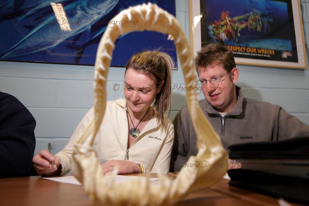The PADI Shark Awareness Speciality dive at Deep Sea World ln South Queensferry,near Edinburgh.