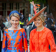 Queen Maxima and Queen Mathilde opened Vormidable Flemish Contemporary Sculpture, 20-05-2015