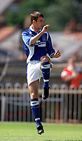 Francis Jeffers (Everton) Exeter City v Everton, Pre-Season Friendly, 5/08/2000. Credit: Colorsport / Matthew Impey