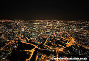 night aerial photograph of Manchester Greater Manchester  England UK